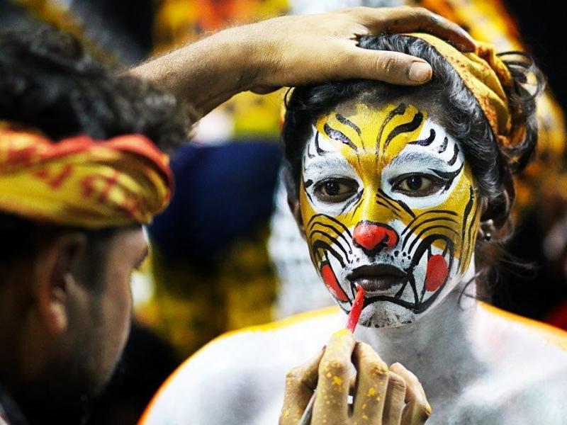 Tiger face - Mangaluru dasara